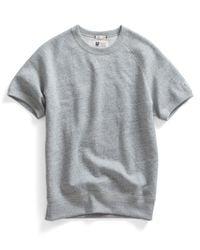 Todd Snyder - Gray Short Sleeve Sweatshirt In Grey Heather for Men - Lyst