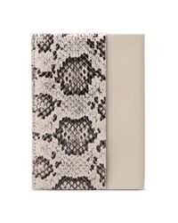 Tod's - White Leather And Reptile Passport Holder - Lyst