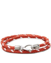 Tod's - Red Mycolors Bracelet In Leather for Men - Lyst