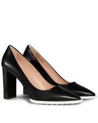 Tod's - Black Pumps In Leather - Lyst
