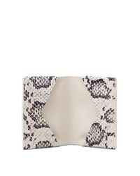 Tod's - White Credit Card Holder In Reptile And Leather - Lyst