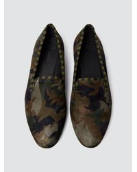 Tomas Maier - Black Camo Palm Smoking Slipper for Men - Lyst
