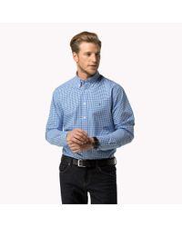 Tommy Hilfiger   Blue Cotton Gingham Regular Fit Shirt for Men   Lyst