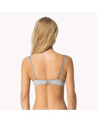 Tommy Hilfiger - Gray Cotton T-shirt Bra - Lyst