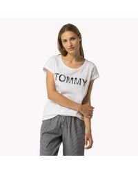 Tommy Hilfiger | White Cotton Blend Crew Neck T-shirt | Lyst