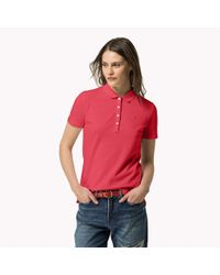 Tommy Hilfiger | Pink Cotton Pique Polo | Lyst