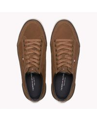 Tommy Hilfiger - Brown Suede Sneaker for Men - Lyst