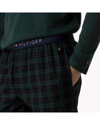 Tommy Hilfiger - Black Cotton Jersey Pyjama Set for Men - Lyst