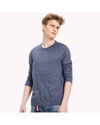 Tommy Hilfiger - Blue Cotton Crew Neck Sweatshirt for Men - Lyst