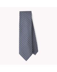 Tommy Hilfiger | Blue Printed Silk Tie for Men | Lyst