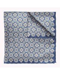 Tommy Hilfiger Blue Floral Pocket Square for men