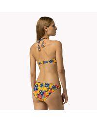 Tommy Hilfiger - Multicolor Paisley Bandeau Bikini - Lyst