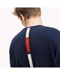 Tommy Hilfiger - Blue Fleece Oversized Sweatshirt for Men - Lyst