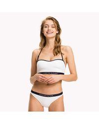 Tommy Hilfiger - White Logo Bandeau Bikini Top - Lyst