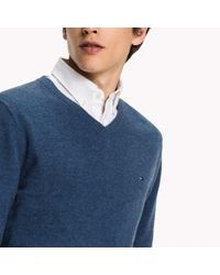 Tommy Hilfiger - Blue Lambswool Jumper for Men - Lyst