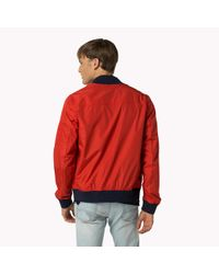 Tommy Hilfiger | Red Classic Bomber for Men | Lyst