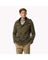 Tommy Hilfiger | Green Hooded Jacket for Men | Lyst
