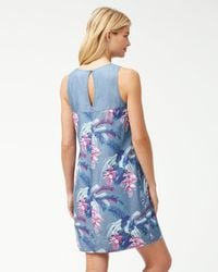 Tommy Bahama - Blue Magnifica Blooms Chambray Shift Dress - Lyst