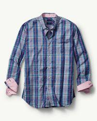 Tommy Bahama - Blue Playa Del Plaid Long-sleeve Shirt for Men - Lyst