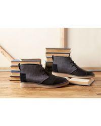 TOMS - Black Herringbone/leather Men's Mateo Chukka Boots for Men - Lyst