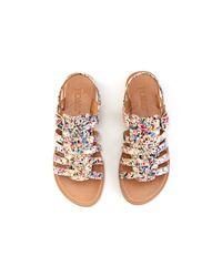 TOMS - Multicolor Paint Splatter On Canvas Youth Huarache Sandals - Lyst