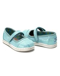 TOMS | Multicolor Aqua Glimmer Tiny Mary Janes | Lyst