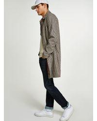 SELECTED - Gray Grey Colourblock T-shirt for Men - Lyst