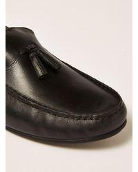 Topman - Black Leather Blast Tassel Loafer for Men - Lyst
