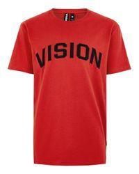 Topman - Vision Street Wear Red Short Sleeve T-shirt for Men - Lyst