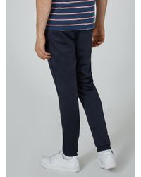 Topman - Blue Navy Poly Tricot Track Pant for Men - Lyst