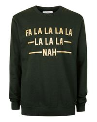 Topman - The London Knitwear Company Green Christmas Jumper* for Men - Lyst