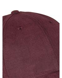 Topman - Red Burgundy Cap for Men - Lyst