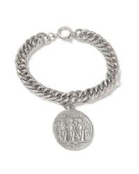 Topman - Metallic Silver Coin Bracelet* for Men - Lyst