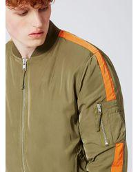 Topman Green Khaki Bomber Jacket for men