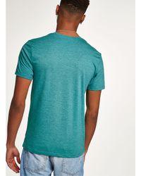 Topman - Green Marl T-shirt for Men - Lyst
