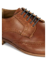 Topman - Brown Tan Leather Brogue for Men - Lyst