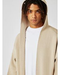 Topman | Natural Stone Knitted Kimono Hoodie for Men | Lyst