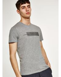 Topman - Elected Homme Gray Abstract Printed T-shirt for Men - Lyst