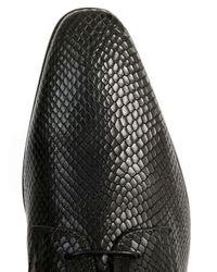 Topman - Black Snake Effect Derby Shoes for Men - Lyst