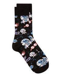 Topman - Black 'out Of This World' Alien Sock for Men - Lyst