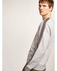 Topman - Gray Grey Taped Sweatshirt for Men - Lyst