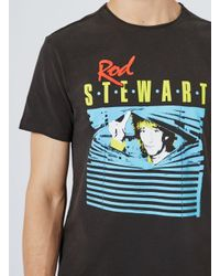 Amplified - Gray Washed Grey Rod Stewart T-shirt* for Men - Lyst