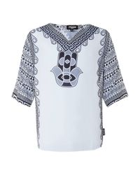 TOPMAN - Jaded Grey And White Kaftan T-shirt* for Men - Lyst