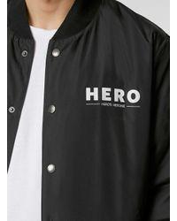 TOPMAN - Hero's Heroine Black Bomber Jacket* for Men - Lyst