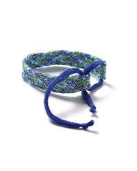 TOPMAN - Blue Woven Festival Wristband* for Men - Lyst
