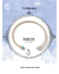 Topman - Metallic Gold Look Throat Chakra Cuff Bracelet* for Men - Lyst