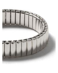 TOPMAN - Metallic Silver Look Stretch Bracelet* for Men - Lyst