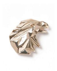 TOPMAN - Metallic Gold Look Eagle Origami Brooch* for Men - Lyst