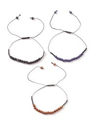 TOPMAN - Multicolor Beaded Adjustable Bracelet* for Men - Lyst