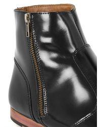 Topman - Black Leather Zip Boots for Men - Lyst